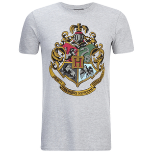 Harry Potter Men's Hogwarts Crest T-Shirt - Sport Grey