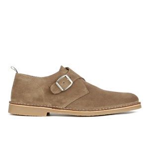 Selected Homme Men's Royce Suede Monk Shoes - Tan