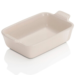 Le Creuset Stoneware Small Heritage Rectangular Roasting Dish - Almond