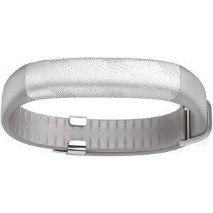 Jawbone UP2 Activity + Sleep Tracker (Classic Flat Strap) - Light Grey Hex (Silver)