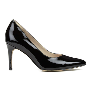 Clarks Women's Dinah Keer Leather Court Shoes - Black Patent