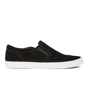 Clarks Women's Glove Puppet Suede Slip-On Trainers - Black