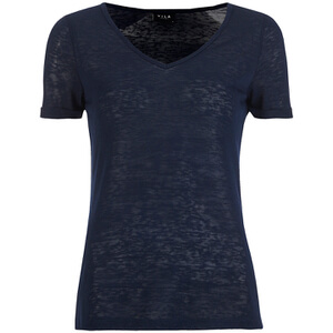 VILA Women's Visumi T-Shirt - Total Eclipse