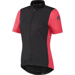 adidas Women's Supernova Ref Short Sleeve Jersey - Black/Shock Red
