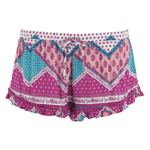 MINKPINK Women's Goodnight Darling Ruffle Edge Shorts - Multi