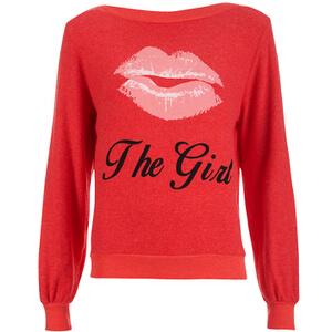 Wildfox Women's Kiss Her Brunch Jumper - Ariel Red