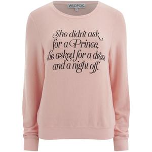 Wildfox Women's Didn't Ask for a Prince Fleece Sweatshirt - Grapefruit