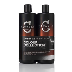 TIGI Catwalk Fashionista Brunette Tween Duo洗发水及护发素(2x750ml)(价值 £55.90)