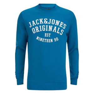 Jack & Jones Men's Seek Crew Neck Sweatshirt - Mykonos