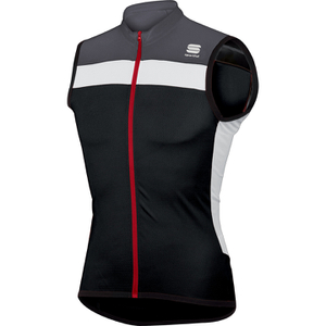 Sportful Pista Sleeveless Jersey - Black/White/Grey