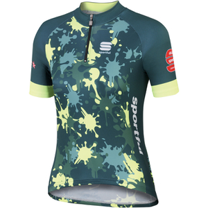 Sportful MGF 15 Children's Short Sleeve Jersey - Green/Yellow
