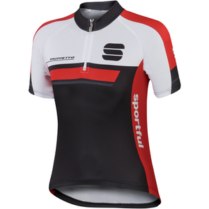 Sportful Gruppetto Children's Short Sleeve Jersey - Black/Red