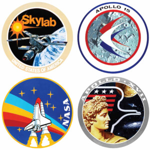 Lot de 4 Badges NASA