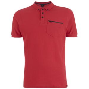 Smith & Jones Men's Mascaron Zip Pocket Polo Shirt - True Red
