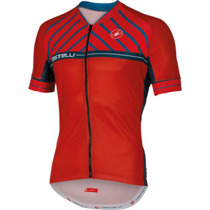 Castelli Scotta Short Sleeve Jersey - Red