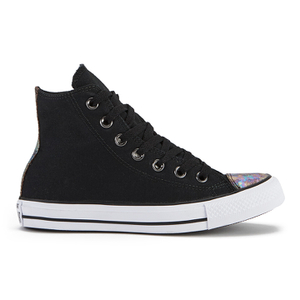 Converse Women's Chuck Taylor All Star Oil Slick Toe Cap Hi-Top Trainers - Black