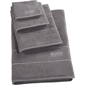 Hugo BOSS Plain Towel Range - Concrete