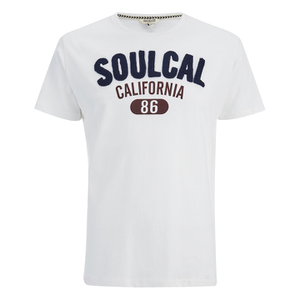 Soul Cal Men's Logo T-Shirt - Optic White