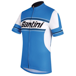 Santini Tau Short Sleeve Jersey - Blue