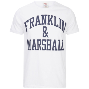 Franklin & Marshall Men's Large Logo T-Shirt - White