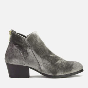 Hudson London Women's Apisi Velvet Heeled Ankle Boots - Grey
