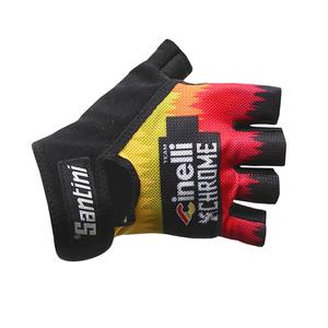 Santini Cinelli Chrome 16 Summer Race Gloves - Black/Orange
