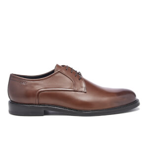 HUGO Men's Neoclass Leather Derby Shoes - Medium Brown
