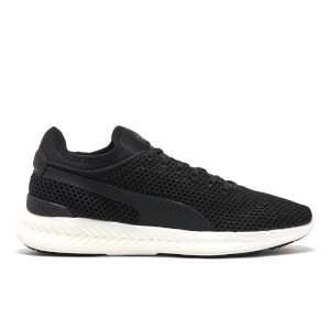 Puma Men's Ignite Sock Knit Running Trainers - Puma Black/Puma White