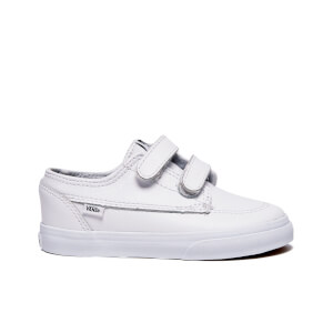 Vans Toddler's Brigata V Trainers - White/True White