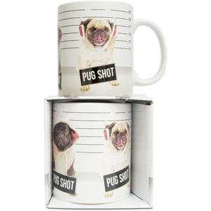 Pug Shot Mug - White