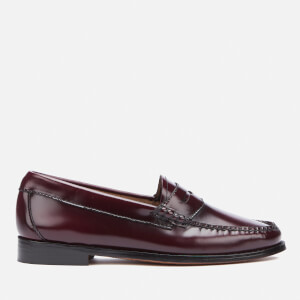 Bass Weejuns Women's Penny Leather Loafers - Wine: Image 1