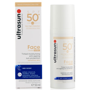 Ultrasun SPF50+ Tinted Face Sun Cream (Various Shades): Image 4