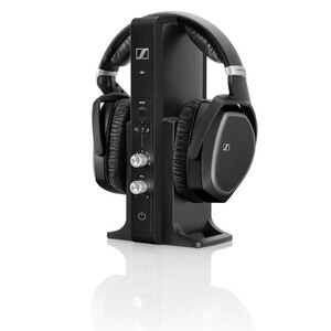Sennheiser RS 195 Surround Sound Wireless Headphones with Multi-Purpose Transmitter - Black