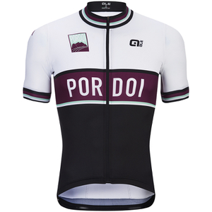 Alé Classic Pordoi Short Sleeve Jersey - Black/White/Purple