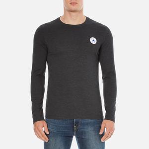 Converse Men's All Star Core Left Chest CP Long Sleeve T-Shirt - Black Heather