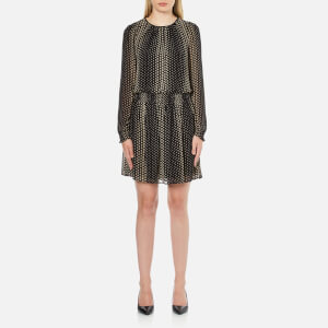 MICHAEL MICHAEL KORS Women's Aralia Smocked Dress - Khaki