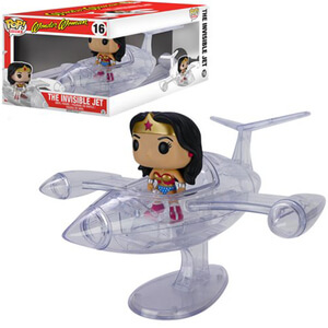 Wonder Woman et Avion Invisible Figurine Funko Pop!