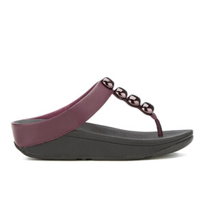 FitFlop Women's Rola Leather Toe-Post Sandals - Hot Cherry