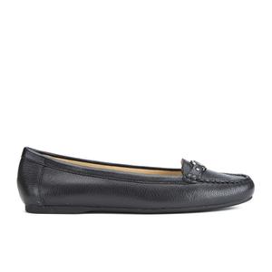 MICHAEL MICHAEL KORS Women's May Leather Moc Flat Pumps - Black