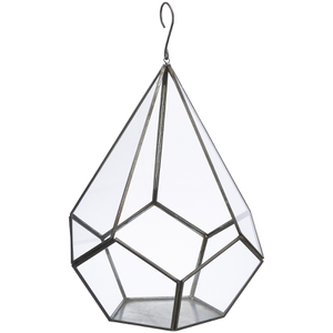 Nkuku Manduri Hanging Planter - Antique Zinc - Small