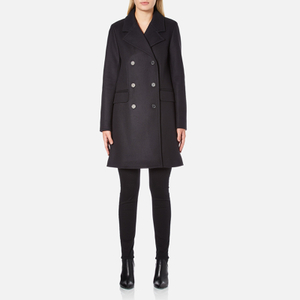 A.P.C. Women's Double Breasted Coat - Navy