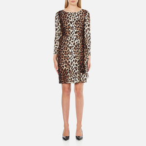 Boutique Moschino Women's Zip Pleat Dress - Leopard