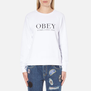 OBEY Clothing Women's Obey Vanity Sweatshirt - White