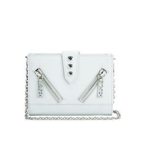 KENZO Women's Kalifornia Wallet on a Chain Crossbody Bag - Light Grey