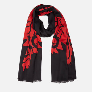 KENZO Women's Iconics Tiger Chest Scarf - Black/Red