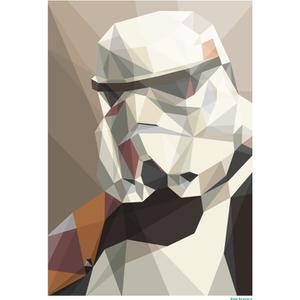 "Póster Fine Art Geométrico Star Wars ""Soldado de asalto"" (42 cm x 30 cm)"