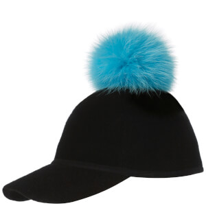 Charlotte Simone Women's Sass Cap Single Pom - Blue - One Size