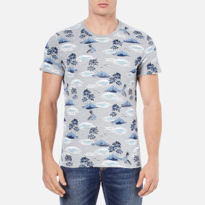 Superdry Men's Dry Hawaiian Printed T-Shirt - Light Grey Marl