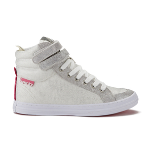 Superdry Women's Hyper Crampon High Top Trainers - Bubblegum Silver