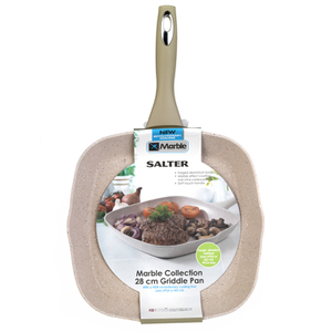 Salter Marble Collection 28cm Griddle Pan Sand